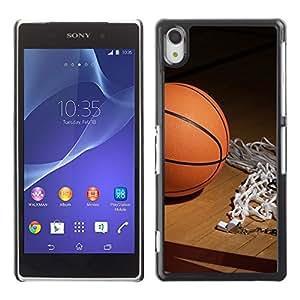 Caucho caso de Shell duro de la cubierta de accesorios de protección BY RAYDREAMMM - Sony Xperia Z2 - Aro de baloncesto
