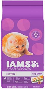 IAMS PROACTIVE HEALTH Kitten Dry Cat Food 3.5 Pounds (Pack of 2)