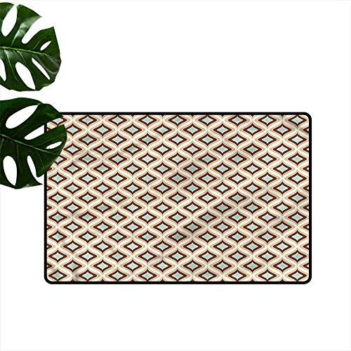 Dog Biscuit Ornament (HOMEDD Dog Doormat,Abstract Artistic Rhombus Ornament,Anti-Slip Doormat Footpad Machine Washable,31