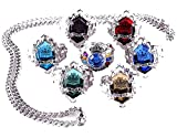 Touirch Anime Jewelry Hitman Reborn Vongola Ring Necklace Cosplay Ring Set (A)
