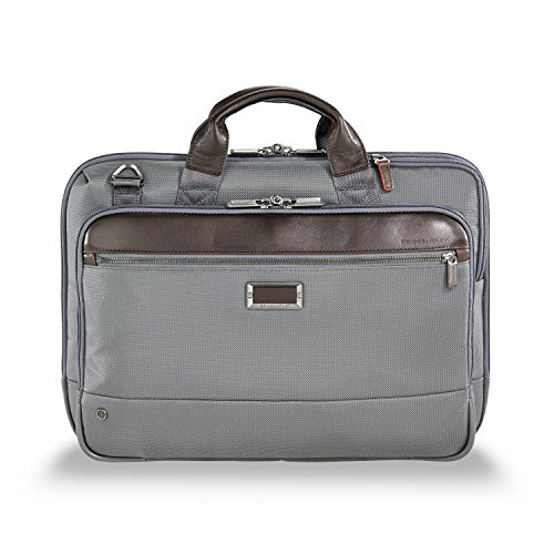 Riley & Briggs Luggage Tag (Briggs & Riley @work Slim Briefcase, Gray)