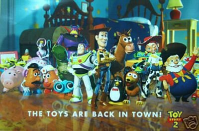 Disney - TOY Story 2 Cast Poster Buzz Lightyear Pixar