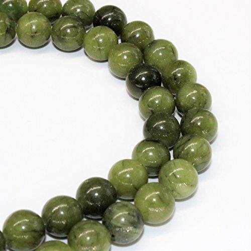 Lynxus Green Jade Gemstone Loose Beads 8mm 46 Beads Per 15.5