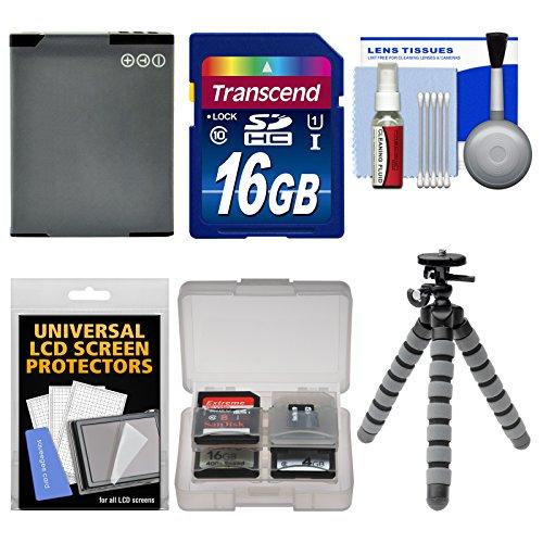 Essentials Bundle for Panasonic Lumix DMC-ZS35, ZS40, ZS45, ZS50, LZ40 Digital Cameras with 16GB Card + DMW-BCM13 Battery + Flex Tripod + Kit (Transcend Wifi Sd Card 16gb)