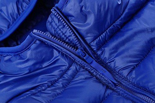 Capucha De Zafiro Wantdo Mujer Ligera Con Chaqueta Portátil Ultra Plumón Azul Para 5w7PpYq