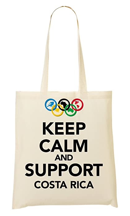 Keep Calm Support Costa Rica Bolso De Mano Bolsa De La Compra ...