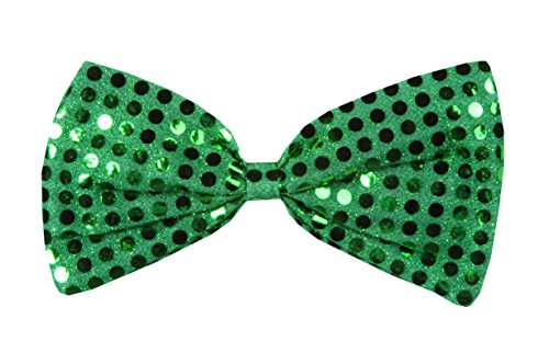 Green Glitz 'N Gleam Bow Tie Party Accessory (1 count) (1/Pkg)