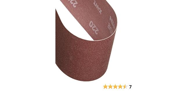 Grit 220 Extra Fine Aluminum Oxide 21 Length x 3 Width Pack of 5 Cotton Fiber Backing Norton 07660705287 Portable Abrasive Belt