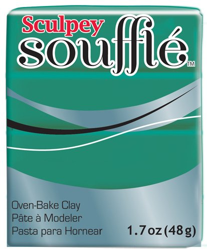 Polyform SU6-6323 Sculpey Souffle Clay, 2-Ounce, Jade
