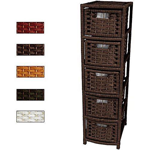 Modern Vintage 5 Drawer Floor Storage Cabinet - Includes Modhaus Living Pen (Gold)