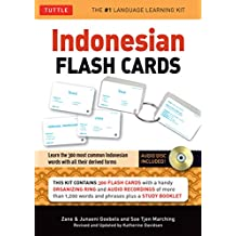Indonesian Flash Cards: Learn the 300 most common Indonesian words with all their derived forms (Audio CD Included)