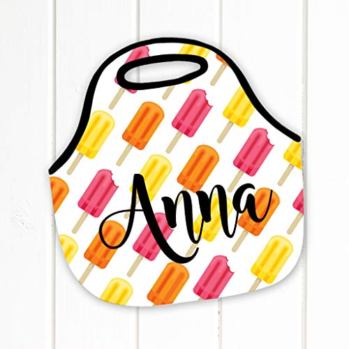 - Personalized Lunch Tote, Popsicles, Neoprene Lunch Tote, Lunch Bag, Lunch Box - Monogram Lunch Tote-Lunch Bag, Monogrammed lunch tote