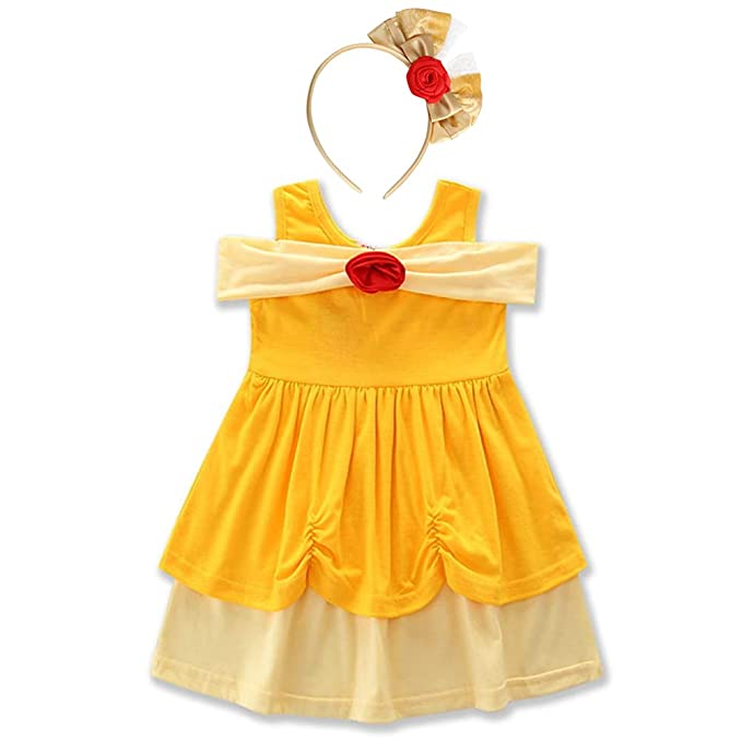f4e035929fe33 Baby Girls Princess Snow White Mermaid Cosplay Birthday Pageant Fancy  Costume Bowknot Summer Tutu Dress Up Outfit