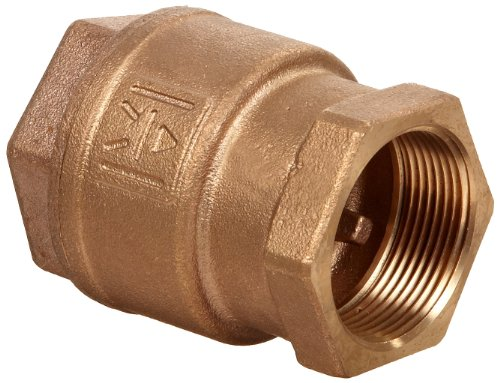 Milwaukee Valve UP548T Series Bronze Spring Check Valve, Potable Water Service, 2'' NPT Female by Milwaukee