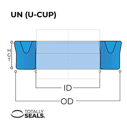 UN Type U-Cup Hydraulic Rod Seals 4mm x 10mm x 4mm Large range of sizes available