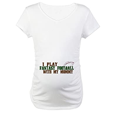 f69a7cf78b CafePress Fantasy Football with Mommy Maternity T-Shirt Cotton Maternity T- Shirt, Cute