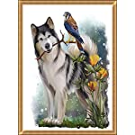 """Dog Diamond Painting- Malamute Diamond Painting Kits, Full Coverage, Round Rhinestone, DIY Tool Kit Art Supplies- Fun Gifts for Friends&Family, Adults&Children, Craftwork for Indoor Décor(12""""x16"""") 12"""