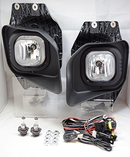 Premium 2pc Fog Lights 2011-2015 Ford Super Duty XLT F-250 F-350 F-450 F-550 Replacement Assembly - Lights Clear Tips 350