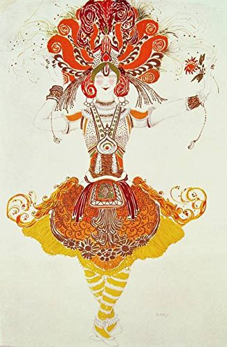 Wall Art Print entitled Ballet Costume For 'The Firebird', By Stravinsky by The Fine Art Masters | 31 x 48