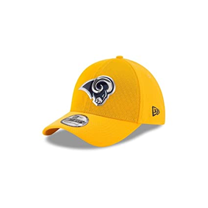New Era 39Thirty Hat Los Angeles Rams NFL 2017 On Field Color Rush Official  Flex Cap 361b38600