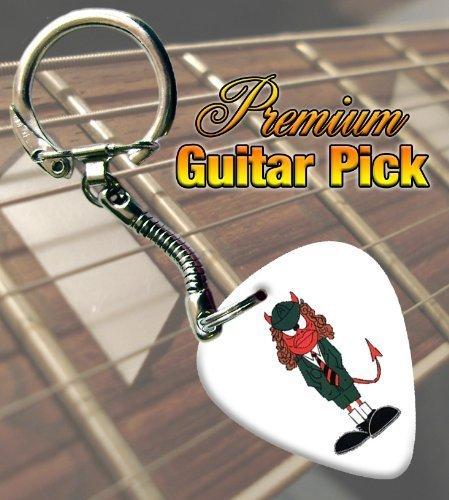 AC/DC Angus Young Devil Premium Púa Para Guitarra Keyring ...