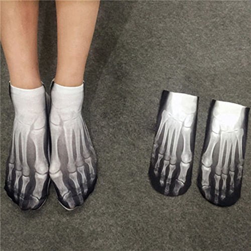 Brand New Halloween Party Costume Accessory Cotton Skeleton Print Ankle (Talking Heads Suit Costume)