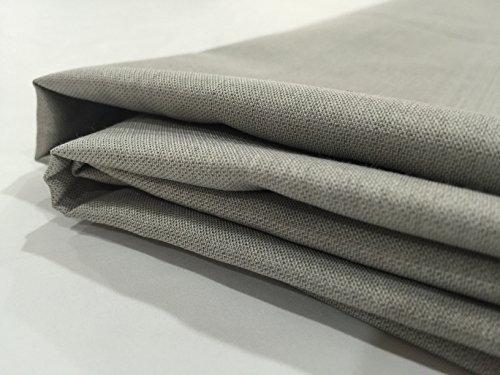 JWtextec 48%Silver Fiber Conductive Fabric Anti Radiation Fabric (57x39.37 Inches(1.45mX1m)) ()