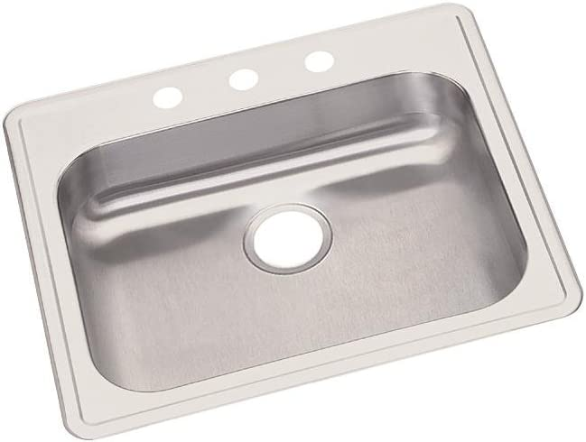 Dayton GE125214 Single Bowl Top Mount Stainless Steel Sink