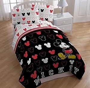 Amazon Com Disney Mickey Mouse Twin Bedding Comforter
