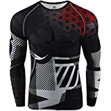 zipravs Compression Shirts for Men Long Sleeve Crossfit Jiu Jitsu BJJ MMA Base Layer (S~3XL)