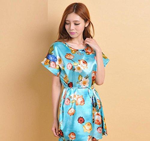 GL&G La Sra casa de verano de ocio sueltos pijamas camisón de manga corta falda de baño atractivo sección delgada,C8,one size A2