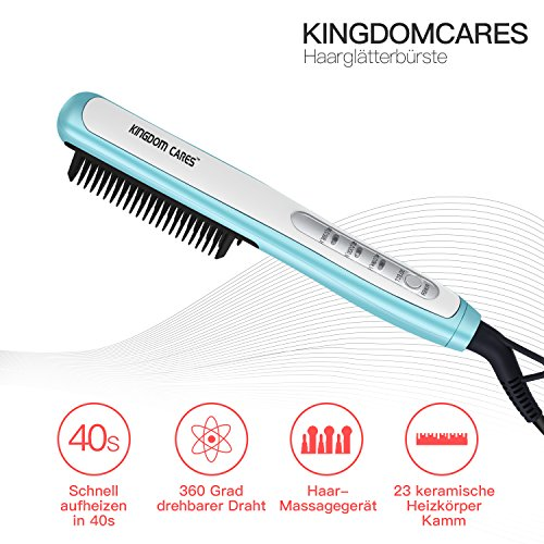 Kingdom Cares Hair alisador de pelo Brush Hair Stratocaster ight ening Brush Rosa: Amazon.es: Belleza