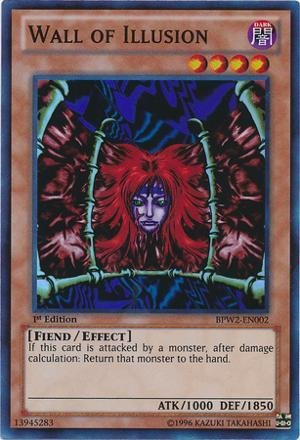Yu-Gi-Oh! - Wall of Illusion (BPW2-EN002) - Battle Pack 2: War of the Giants - Round 2 - 1st Edition - Super Rare (Wall Illusion)