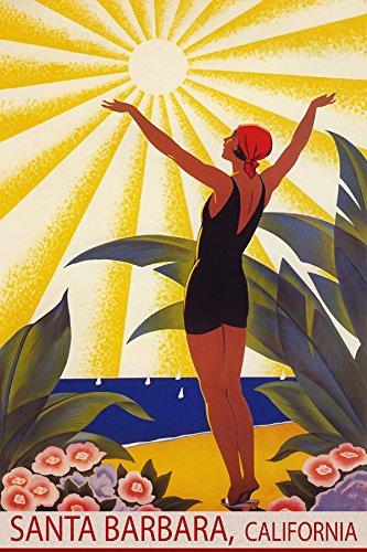 SUNSHINE SANTA BARBARA CALIFORNIA BEACH GIRL WELCOMING THE SUN SAILING TRAVEL 20
