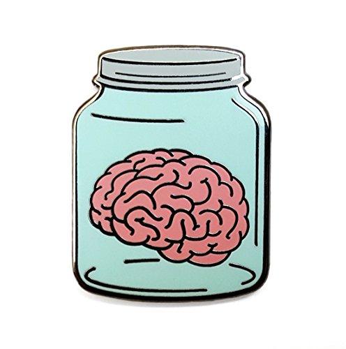 Pinsanity Brain in a Jar Enamel Lapel Pin