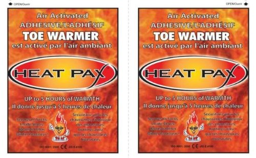 Techniche 5570_10pack Heat Pax Air Activated Adhesive Toe Warmers - 10 (Air Activated Heating Vest)