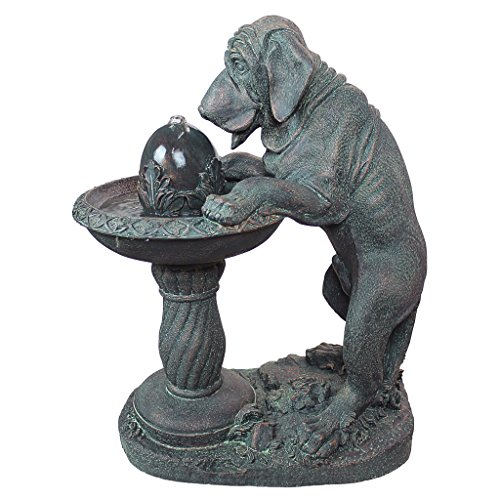 Design Toscano Dog's Refreshing Drink Sculptural Fountain