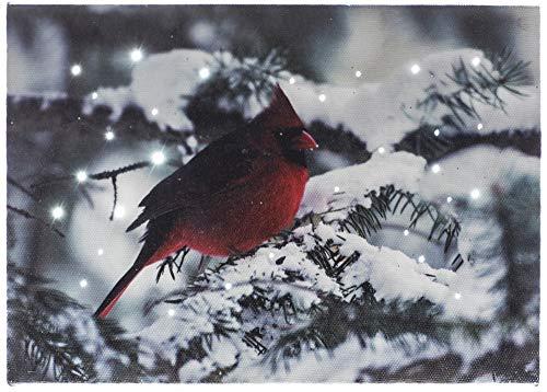 Oak Street Cardinal On Snowy Branch LED Art 8