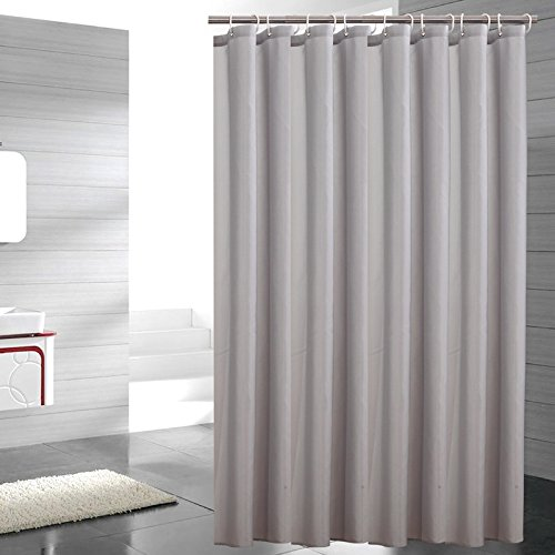 Sfoothome Heavy Weight Small Size Fabric Shower Curtain