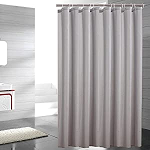 sfoothome heavy weight fabric shower curtain. Black Bedroom Furniture Sets. Home Design Ideas
