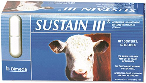 DURVET 058537 50 Count Sustain III Cattle Bolus by Durvet
