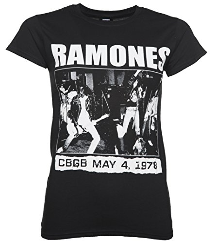 TruffleShuffle Womens Black Ramones CBGB 1978 T Shirt