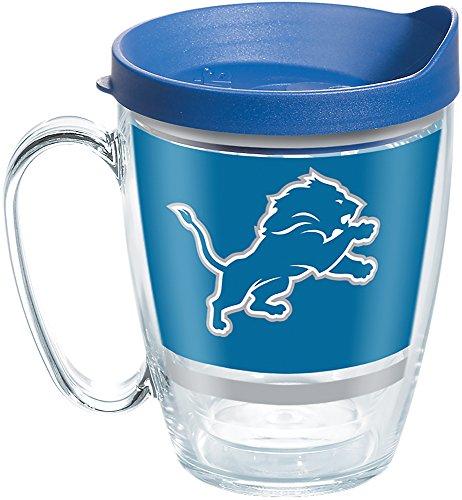 (Tervis 1257661 NFL Detroit Lions Legend Tumbler with Wrap and Blue Lid 16oz Mug, Clear )