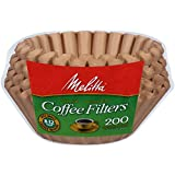 Melitta 8-12 Cup Basket Filter Paper (Natural Brown, 200 Count)