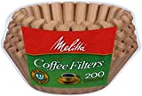 : Melitta 8-12 Cup Basket Filter Paper (Natural Brown, 200 Count)