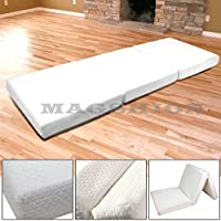 Magshion Memory Foam Mattresses Folding Bed (Single 27, White)