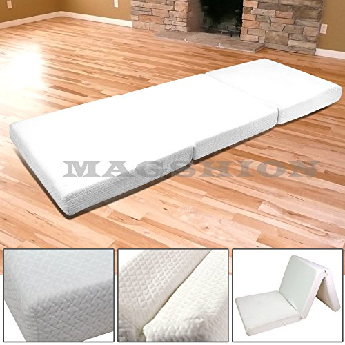 Magshion Memory Foam Mattresses Folding Bed (Single 27'', White)