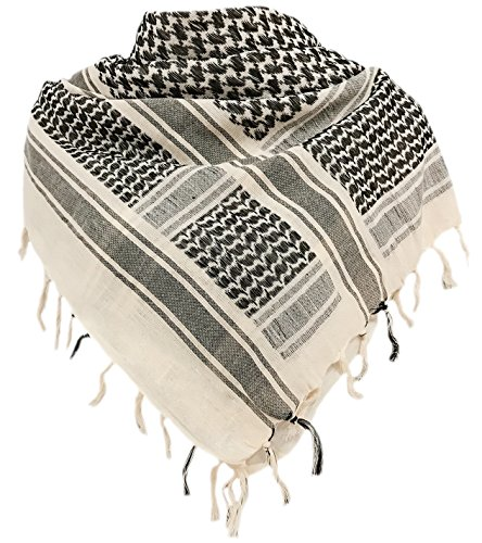Military Shemagh Tactical Desert 100% Cotton Keffiyeh Scarf Wrap ()