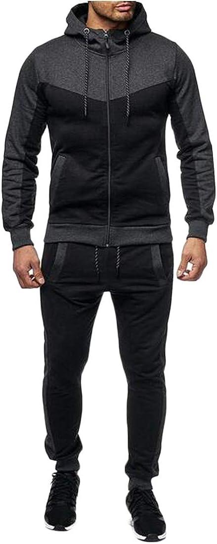 XTX Mens Hoodie Coat Jogger Pants Athletic 2 Piece Outfits Sweatsuits Tracksuits Sets