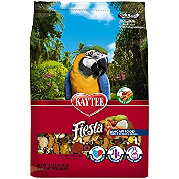 Kaytee Fiesta Max Bird Food for Macaws, 4-1/2-Pound Bag